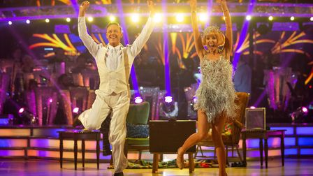 Kevin Clifton, Stacey Dooley performing on Strictly Come Dancing - (C) BBC - Photographer: Guy Levy