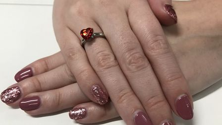 The Poundland 'Bling Ring' range includes gold and silver rings with red or blue stones. Picture: SO