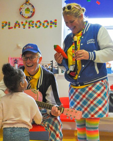 The Laughter Specialists bring fun to sick children in hospital. Picture: THE LAUGHTER SPECIALISTS