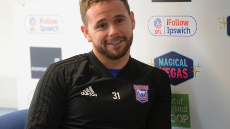 New Ipswich Town signing Alan Judge speaks to the media ahead of Saturday's game at Blackburn. Photo