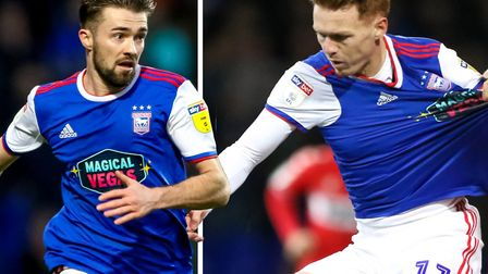 Gwion Edwards and Jon Nolan were both signed by Ipswich Town in the summer. Picture: ARCHANT
