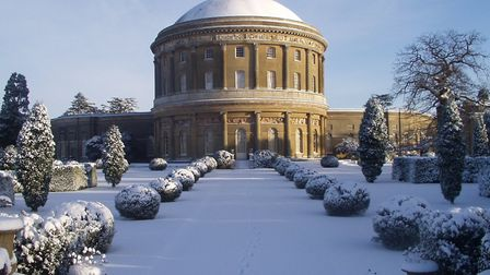 Ickworth makes an ideal venue for a Christmas event - even if it isn't snowing. Photo: National Trus