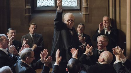 """Gary Oldman as Winston Churchill in a scene from """"Darkest Hour."""" Photo: Jack English/Focus Features"""