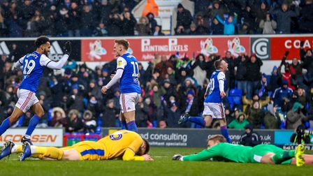 Ipswich Town are back to within five points of Championship safety following Freddie Sears' winning