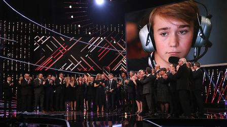 Billy Monger receives the Helen Rollason Award the BBC Sports Personality of the Year 2018. Photo: P