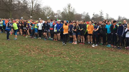 A field of 1,107 congregate for the start of the Bushy parkrun on Saturday, the oldest parkrun in th