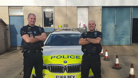 PC James Ireland and Daniel Bellingham both became namesakes of the new baby they helped rush to hos
