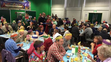 People at the Gatehouse Christmas lunch. Picture: RUSSELL COOK