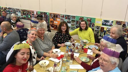 People attending the Jam Community Pot's Christmas lunch. Picture: RUSSELL COOK