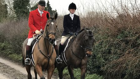 The riders set off from Holbecks Park on Boxing Day morning following the hounds tracking a predeter