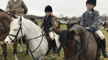 Some of the younger participants rode ponies as the group lined up to charge off with the dogs Pictu