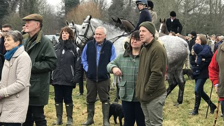 Gathering crowds at the Hadleigh hunt on Boxing Day 2018 Picture: VICTORIA PERTUSA