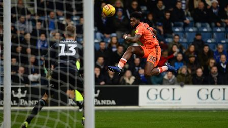 Ellis Harrison with a first half effort on goal at QPR Picture Pagepix