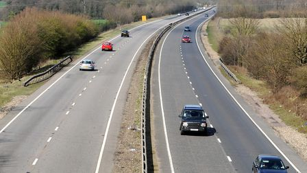 The incident happened on the A14 near Stowmarket Picture: ARCHANT LIBRARY