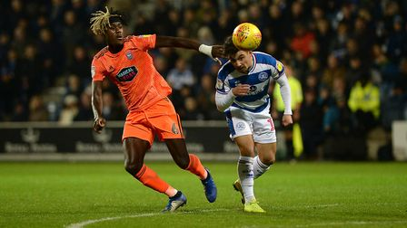 Trevoh Chalobah tries to stick close to Luke Freeman at QPR. Picture Pagepix