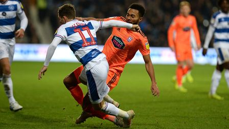 Grant Ward twists his leg in a second half challenge and has to go off injured at QPR Picture Pagepi