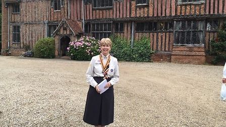 Jen Mullan received her MBE for services to Scouting after 40 years of volunteering with the organis