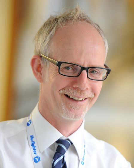Dr Stephen Dunn, chief executive of West Suffolk NHS Foundation Trust, said his award was recognitio