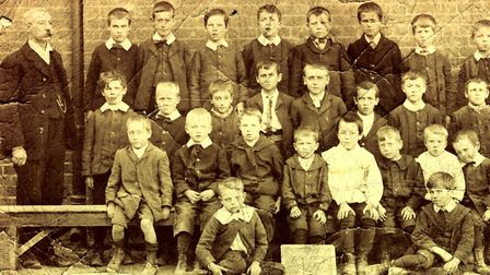 Boys at Bridge Street School � date unknown. Alfred Harriss is on the left Picture: HADLE