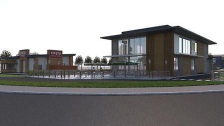 Newmarket Town Council has objected to plans for a 'drive-thru' McDonald's and Costa Picture: BIRKET