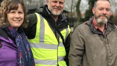 Volunteers gathered at Woodbridge's Tea Hut for the last Rubbish Walk of the year. Picture: Victoria