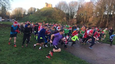 It was a colourful scene at the pre-Christmas Clare Castle parkrun. 100-plus fields have been attrac