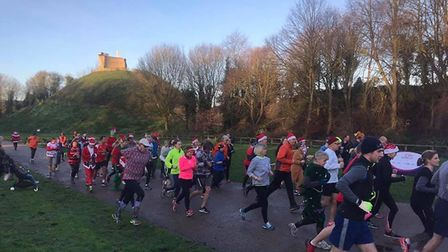Runners get into their stride at the Clare Castle parkrun, held every Saturday morning. Picture: CL