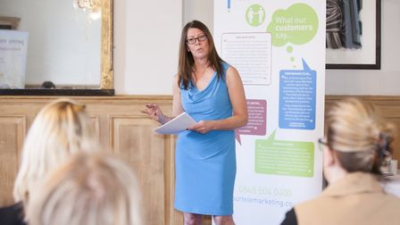 Laura Morrison speaking at the Business Womens Network, Ickworth Hotel, Suffolk