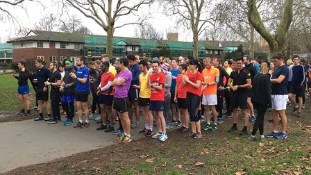 A field of 155 congregate for the 268th Southwark parkrun last Saturday morning. Picture: CARL MARST
