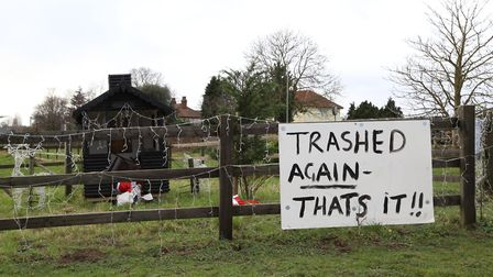 Owner Guy Hayward says he will not put up decorations again Picture: JULIAN EVANS