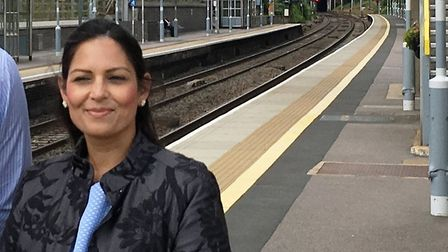Priti Patel is concerned about the train service commuters received at New Year. Picture: PAUL GEATE