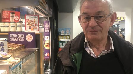 vegetarian customer Terry at Ipswich Town Station