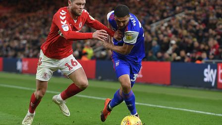 Myles Kenlock has started Ipswich Town's last two games. Photo: Pagepix