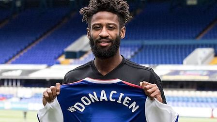 Donacien was signed as a right back by former boss Paul Hurst. Photo: ITFC