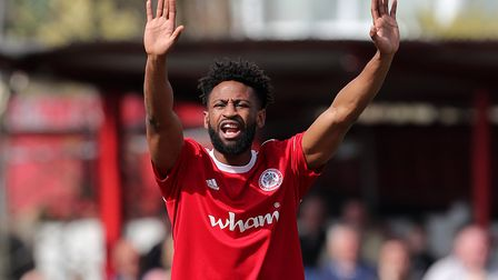 Donacien could face Accrington this weekend. Picture: PA