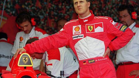 Michael Schumacher. F1 legend so cruelly injured in a skiing accident. Photo: PA
