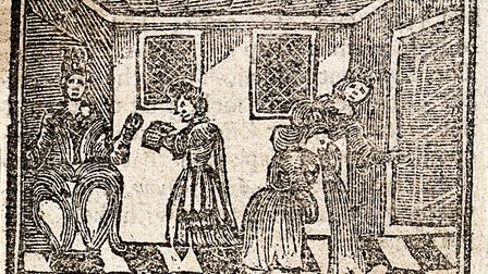 A bewitched woman vomiting. Woodcut, 1720. Picture: Wellcome Collection