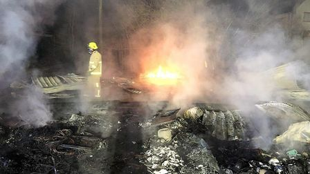 The barn fire started in the early hours of the morning of Friday, January 4. Picture: ESSEX FIRE SE