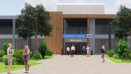 An artist's impression of what the revamped Colchester Hospital will look like. Picture: East Suffol