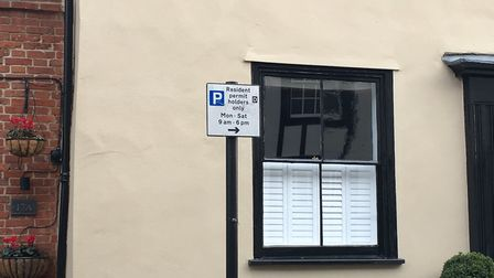 This sign in Whiting Street says the spaces are for resident permit holders only from Monday to Satu