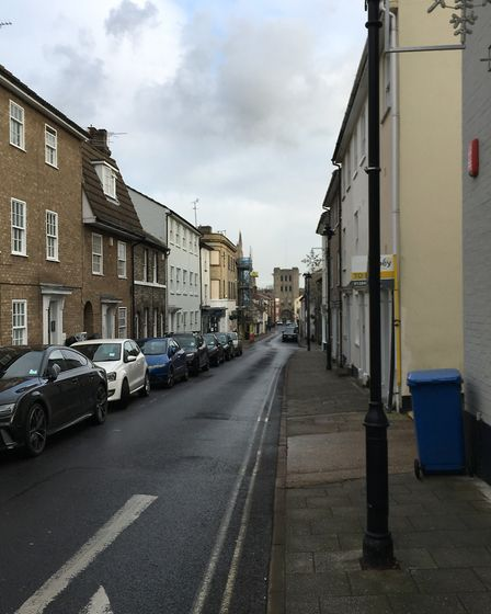 The view down Churchgate Street, which is part of the zone D residents' parking scheme Picture: MARI