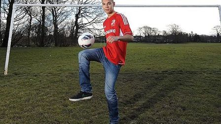 Kayden Jackson, pictured during a photoshoot for the Samsung Win a Pro Contract competition. Picture