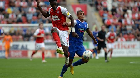 Kayden Jackson on his debut at Rotherham Picture Pagepix