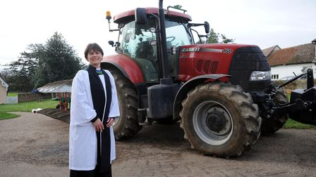 Rev Janet Nicholls, Essex rural adviser and agricultural chaplain, at Thaxted Church Picture: PHIL M
