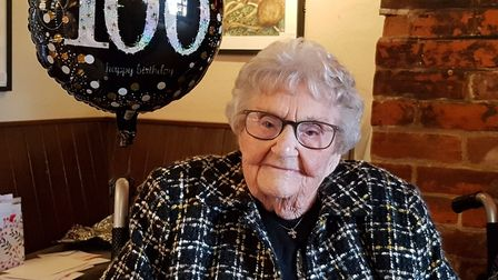 Kath Cook celebrated her 100th birthday Picture: RACHEL EDGE