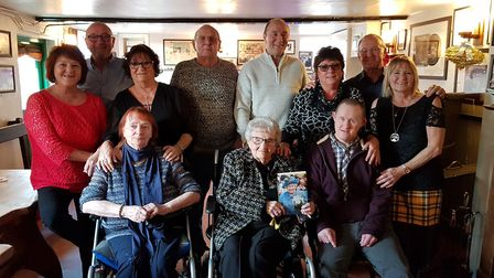 Kath and her family at The Ship in Blaxhall. Picture: RACHEL EDGE