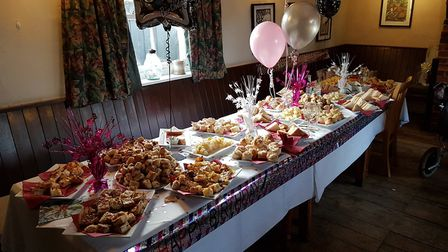 There was quite a spread for the occasion at The Ship in Blaxhall. Picture: RACHEL EDGE