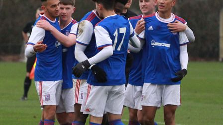 Ipswich Town U18s have begun their 2019 by winning 5-3 at home to Millwall Picture: ROSS HALLS