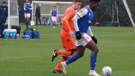 Tyreece Simpson scored twice as Town U18s beat Millwall 5-3 at Playford Road Picture: ROSS HALLS