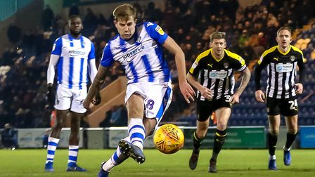Harry Pell, who netted a brace in Colchester United's 3-0 win at Port Vale this afternoon. Picture: